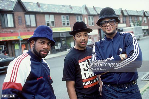 UNITED STATES JULY 16 RUN DMC posed group shot in Hollis Queens