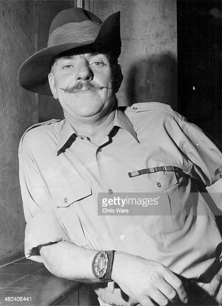 Posed portrait of actor Windsor Davies as he appears in the television series 'It Ain't Half Hot Mum' November 1st 1974