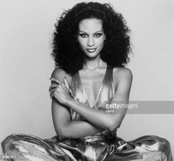 Posed portrait of American actress and model Beverly Johnson in 1977