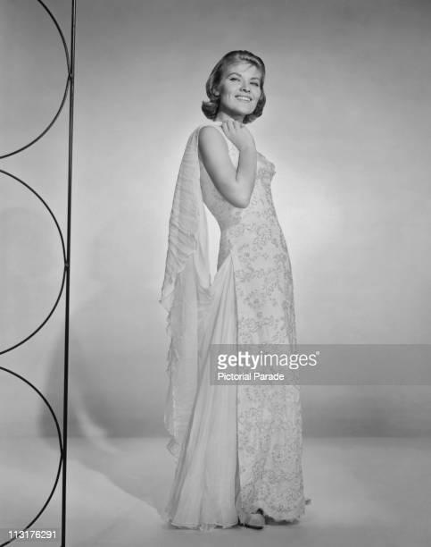 Posed portrait of American singer Patti Page circa 1960