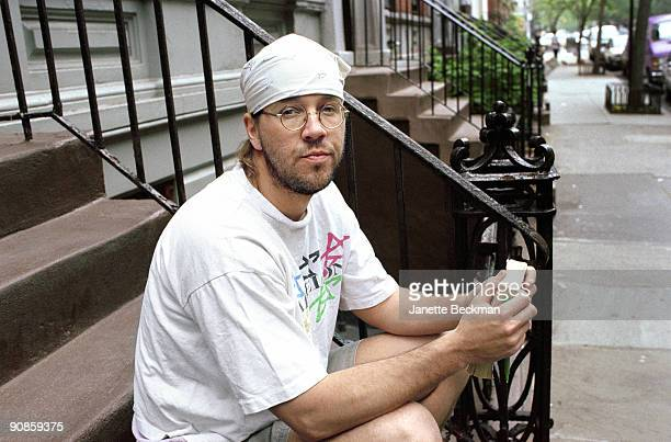 Posed portrait of American writer David Foster Wallace January 2007