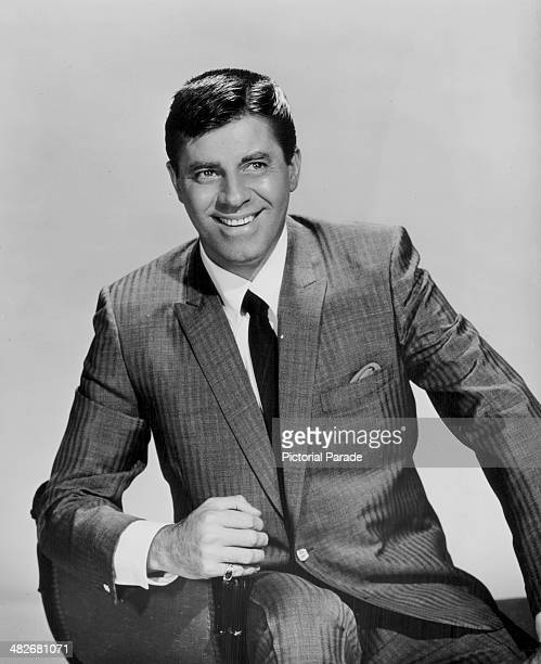 Posed portrait of comic actor Jerry Lewis circa 19551960
