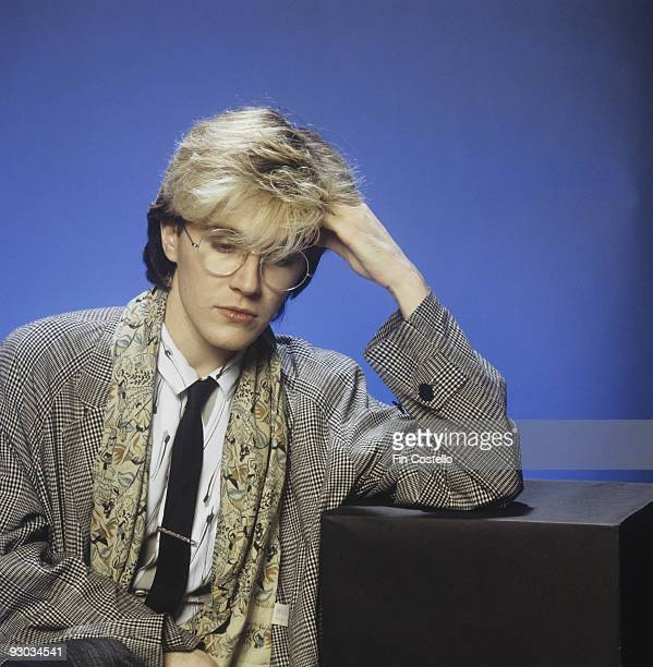 Posed portrait of David Sylvian lead singer of Japan in London England in 1982