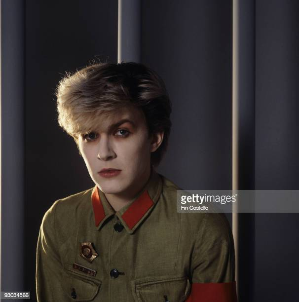 Posed portrait of David Sylvian lead singer of Japan in London England in August 1981