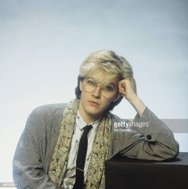 Posed portrait of David Sylvian lead singer of Japan in London England in 1982