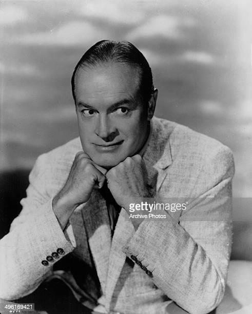 Posed portrait of entertainer and comedian Bob Hope circa 19401950