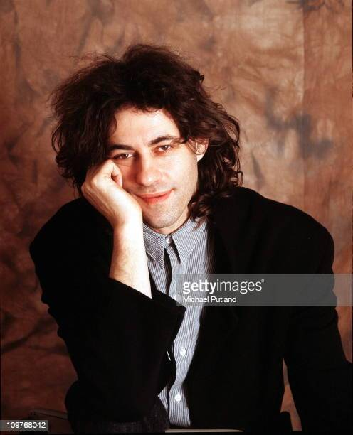 Posed portrait of Irish singer and charity activist Bob Geldof in 1987