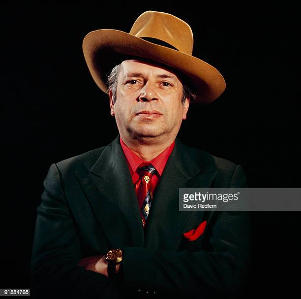 Posed portrait of jazz singer and writer George Melly in 1978