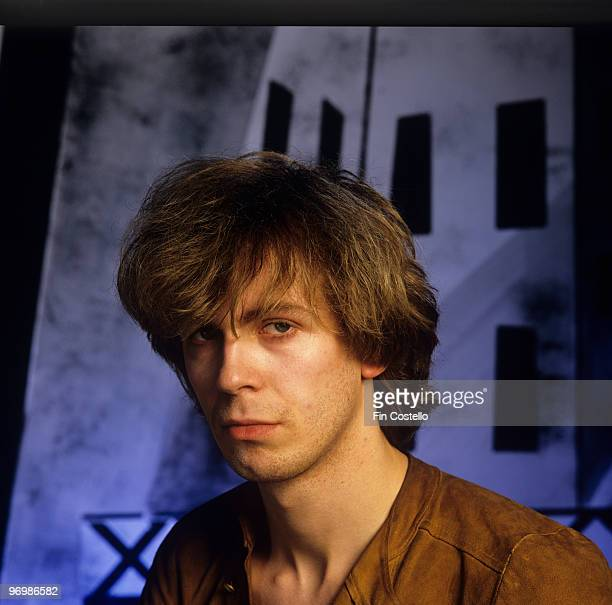 Posed portrait of Julian Cope lead singer of The Teardrop Explodes in August 1981