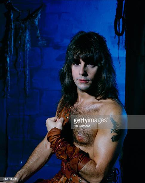 Posed portrait of Manowar guitarist Ross 'The Boss' Friedman in October 1984