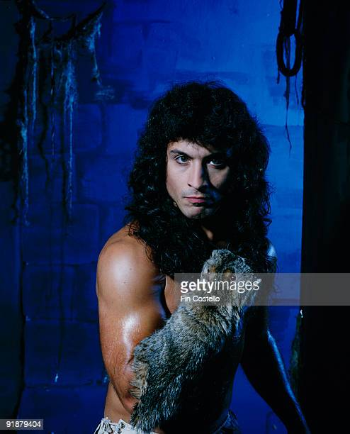 Posed portrait of Manowar singer Eric Adams in October 1984