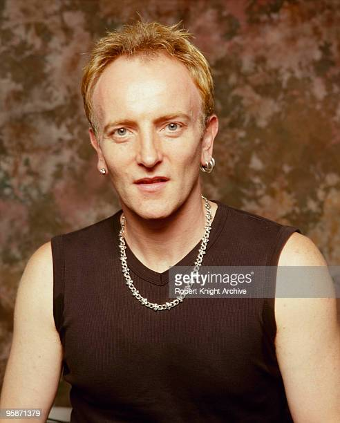 Posed portrait of Phil Collen guitarist with British band Def Leppard on September 05 2000