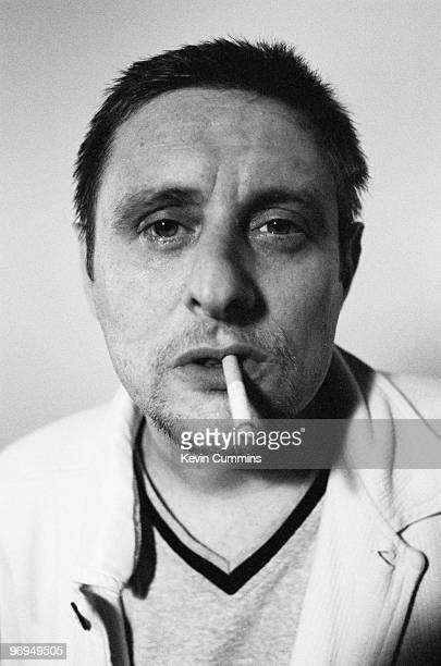 Posed portrait of Shaun Ryder singer and songwriter with British bands the Happy Mondays and Black Grape in September 1997