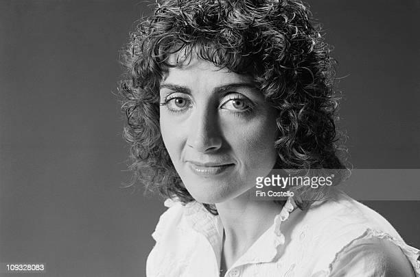 Posed portrait of singer Sally Oldfield in London in October 1981
