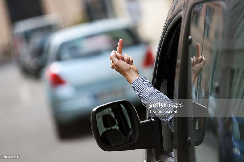Coercion In The Road Traffic : News Photo