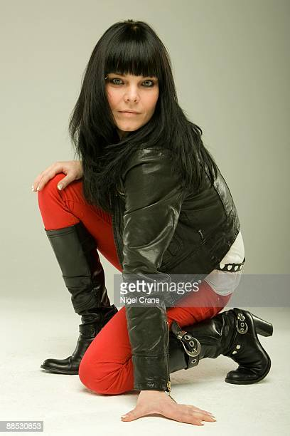 Posed studio portrait of Anette Olzon lead singer with Finnish metal band Nightwish in London England on March 25 2008