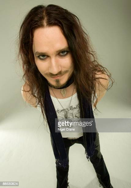 Posed studio portrait of Tuomas Holopainen, keyboard player with Finnish metal band Nightwish in London, England on March 25 2008.