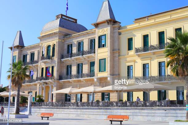 poseidonion grand hotel, spetses island, greece - spetses stock pictures, royalty-free photos & images