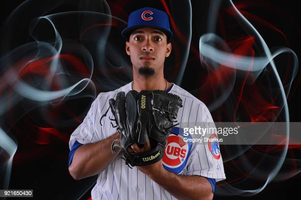 poses during Chicago Cubs Photo Day on February 20 2018 in Mesa Arizona