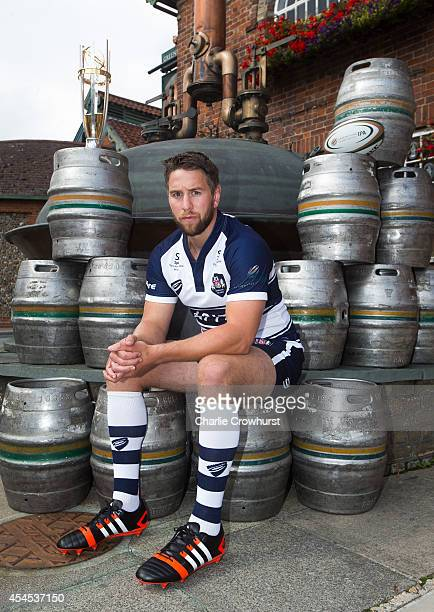 poses for a photo during the 2014/15 Greene King IPA Championship Captains photocall at Greene King IPA brewery on September 03 2014 in Bury St...