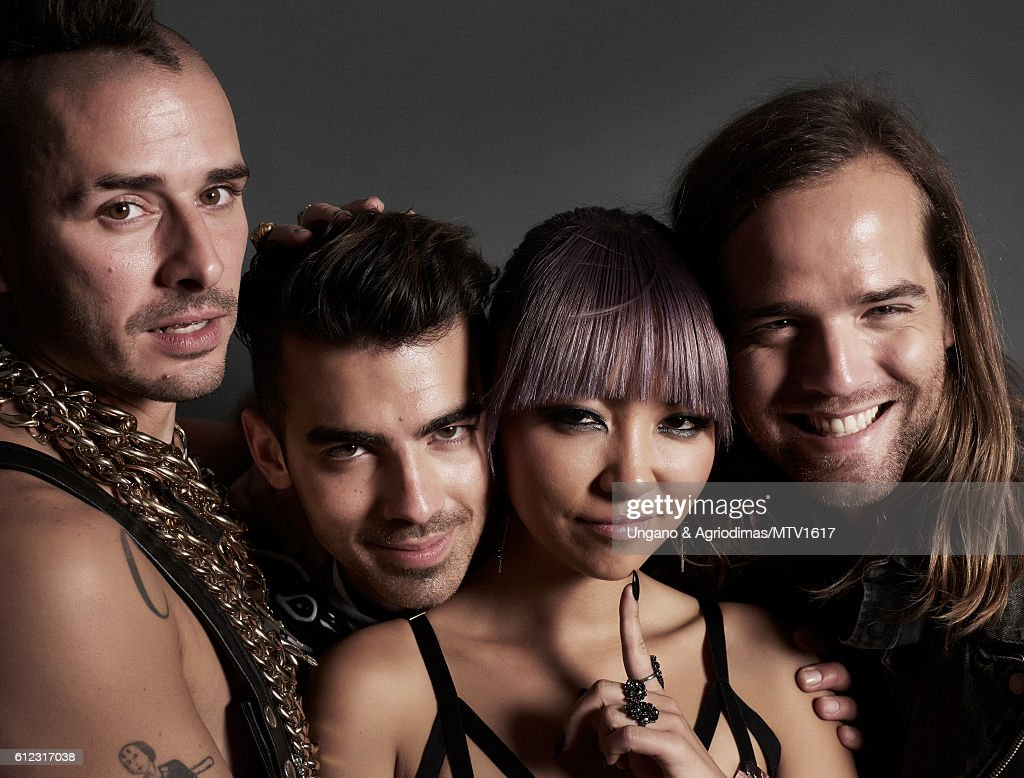 Joe Jonas, JinJoo Lee, Cole Whittle and Jack Lawless) poses for a portrait at the 2016 MTV Video Music Awards at Madison Square Garden on August 28, 2016 in New York City.