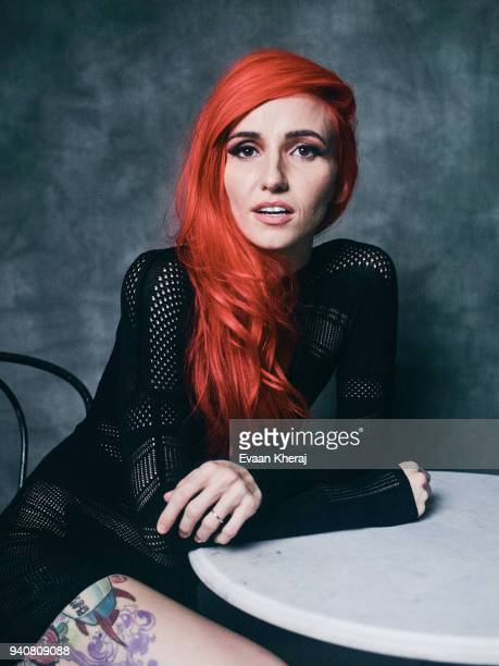 LIGHTS poses for a portrait at the YouTube x Getty Images Portrait Studio at 2018 JUNO AWARDS on MARCH 25th 2018 in Vancouver BC