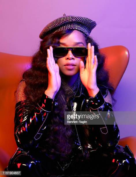 Poses for a portrait during the BET Awards 2019 at Microsoft Theater on June 23, 2019 in Los Angeles, California.