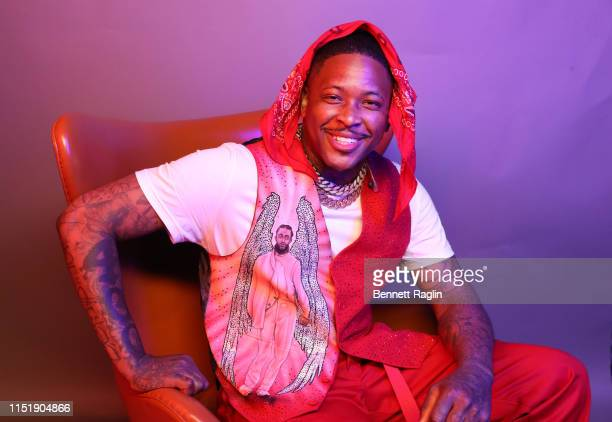 YG poses for a portrait during the BET Awards 2019 at Microsoft Theater on June 23 2019 in Los Angeles California