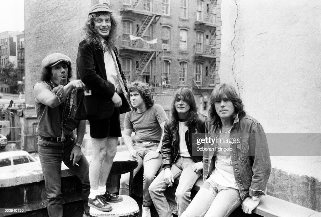 ACDC poses for a portrait in June 1985 in New York City, New York.