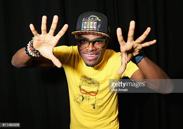 OMI poses in the media room at Nickelodeon Slimefest 2016 at Sydney Olympic Park Sports Centre on September 30 2016 in Sydney Australia