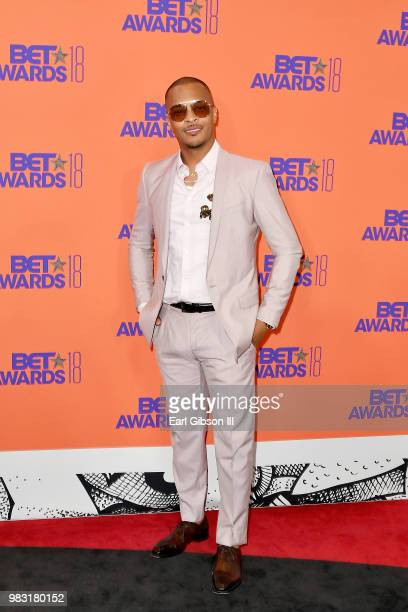 I poses in the press room at the 2018 BET Awards at Microsoft Theater on June 24 2018 in Los Angeles California