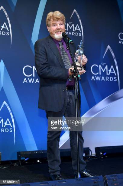 poses in the press room at the 51st annual CMA Awards at the Bridgestone Arena on November 8 2017 in Nashville Tennessee