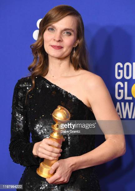 poses in the press room at the 77th Annual Golden Globe Awards at The Beverly Hilton Hotel on January 05 2020 in Beverly Hills California