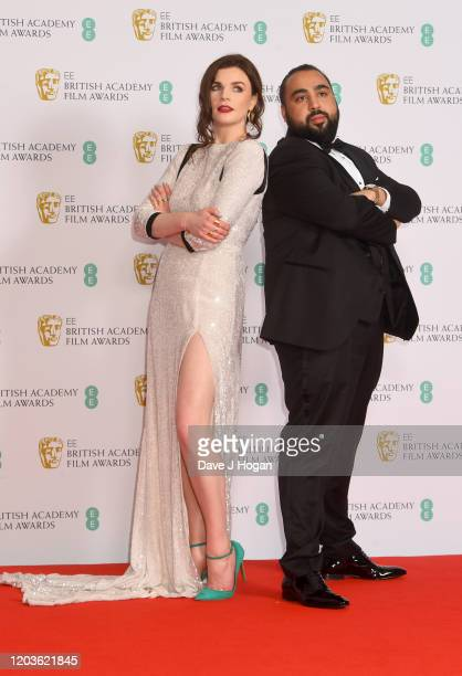 poses in the Winners Room during the EE British Academy Film Awards 2020 at Royal Albert Hall on February 02 2020 in London England