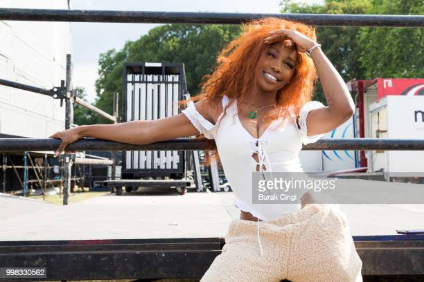 SZA poses on day 1 of Lovebox festival at Gunnersbury Park on July 13 2018 in London England