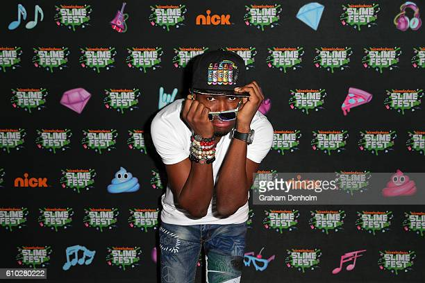 OMI poses on the media wall ahead of the Nickelodeon Slimefest 2016 evening show at Margaret Court Arena on September 25 2016 in Melbourne Australia