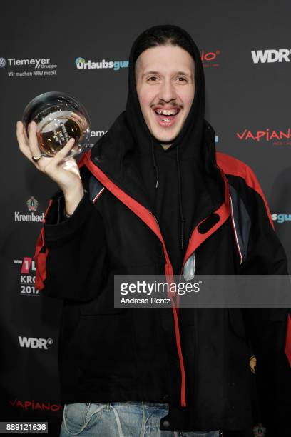RIN poses with his award during the 1Live Krone radio award at Jahrhunderthalle on December 07 2017 in Bochum Germany