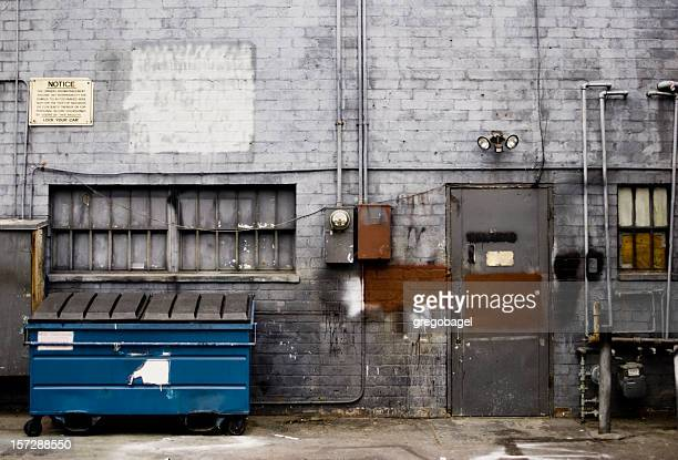 posh alley - garbage bin stock pictures, royalty-free photos & images