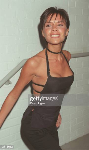 Posh Spice Victoria Adams arrives at the VH1 5th birthday party in London, 1999. The party was also to celebrate the launch of Baby Spice Emma...