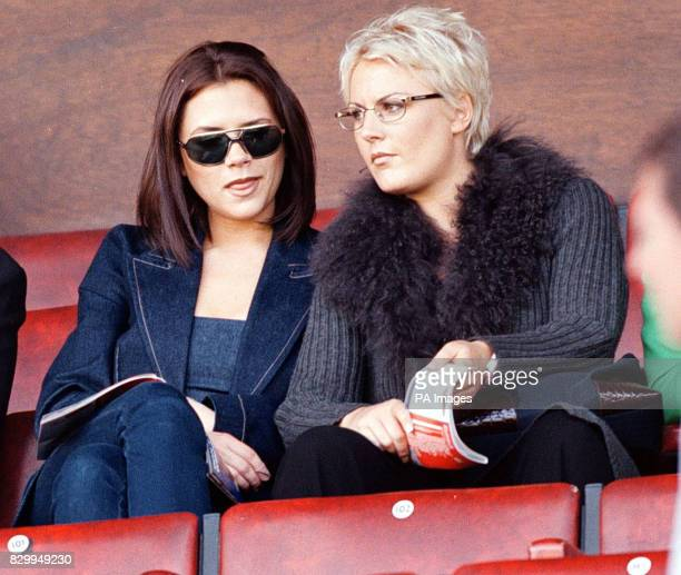 Posh Spice Victoria Adams with an unknown friend at Old Trafford today for Mancester Utd's match against Coventry There was media speculation that...