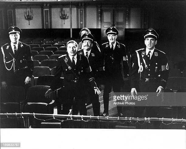 Posing as German officers George Gaynes Mel Brooks Zale Kessler Lewis J Stadlen Jack Riley and George Wyner are faced with reallife danger in a scene...