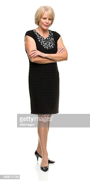 posing mature woman full length - cut out dress stock pictures, royalty-free photos & images