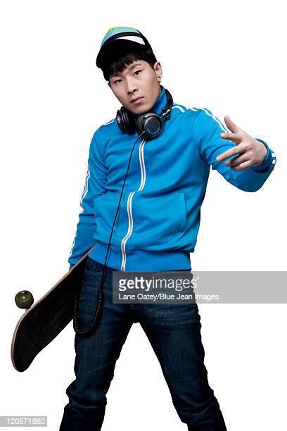 Posing with Skateboard