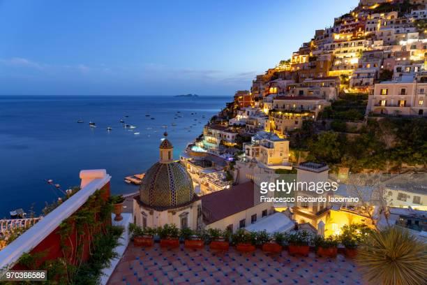 positano, amalfi coast, campania, sorrento, italy. - iacomino italy foto e immagini stock