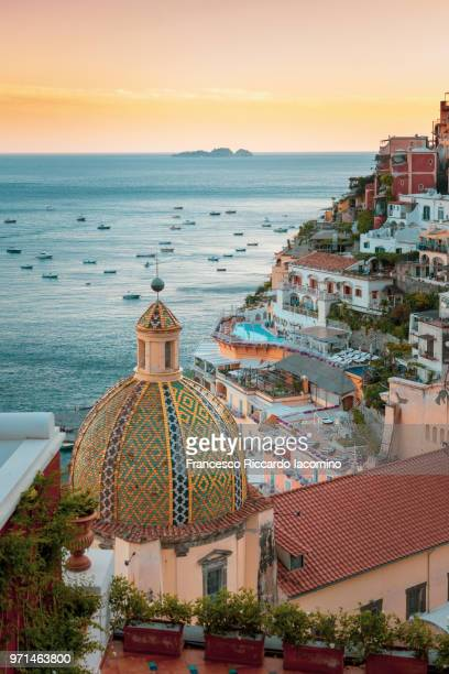 positano, amalfi coast, campania, sorrento, italy. - italie photos et images de collection