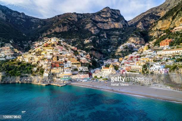 positano - amalfi coast - italy - amalfi coast stock photos and pictures