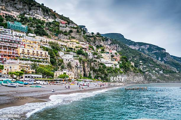 positano, amalfi coast italy. - capri stock pictures, royalty-free photos & images