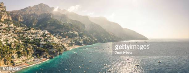 positano - amalfi coats - italy - mediterranean sea stock pictures, royalty-free photos & images