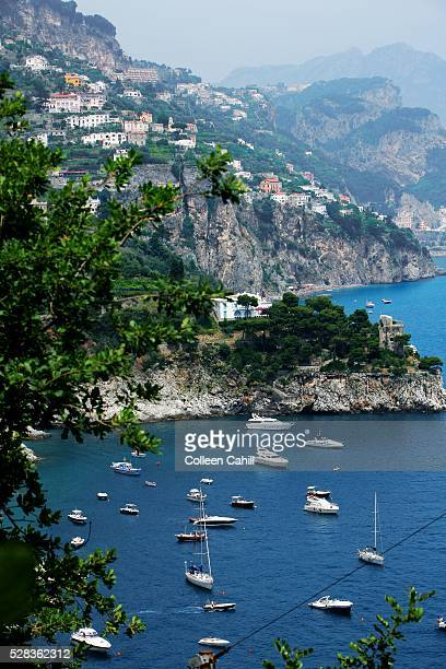 Positano, Campania, Italy; Boats on the Amalfi Coast