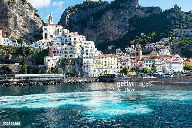 positano on amalfi coast, italy - amalfi coast stock photos and pictures